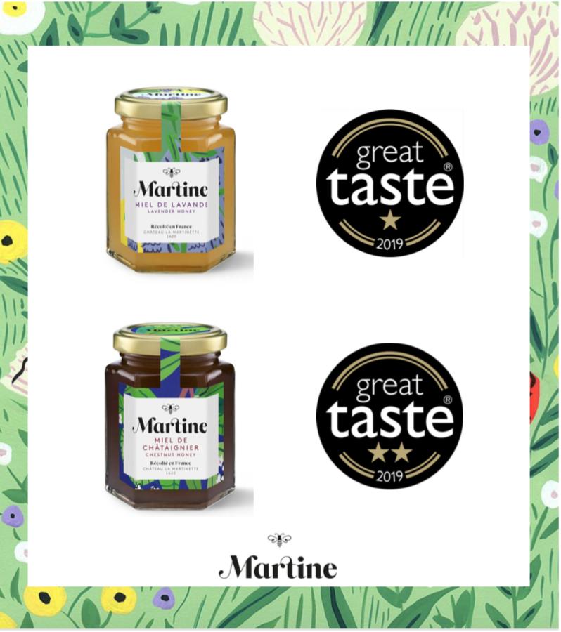Great Taste Awards pour notre miel de lavande et châtaigner