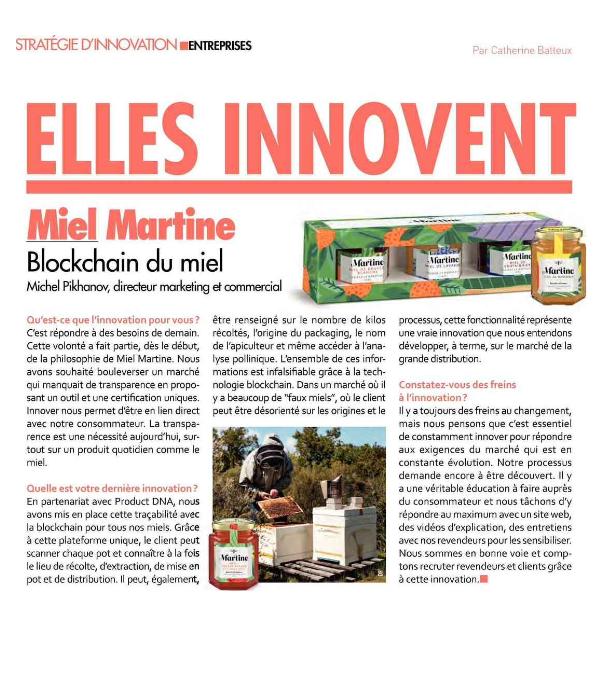 Innovation et traçabilité du Miel Miel Martine