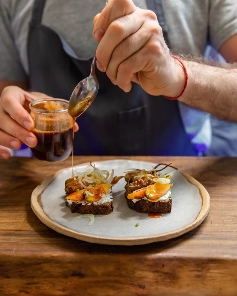 Recette Tartine carotte, feta et miel de lavande